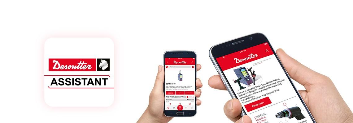 Montaj ve delme ürünlerimiz hakkında güncel bilgileri almak ve tüm hizmetlerimize kolayca erişmek için Desoutter Assistant uygulamasını indirin.