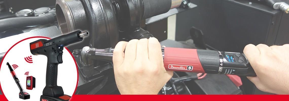 EABCom'u Keşfedin - Desoutter Industrial Tools tarafından sunulan EPBCom bataryalı somun sıkma aletleri. %100 izlenebilirlik için 4 transduserli bataryalı aletleri tek görüntü kontrolörüne bağlayın.