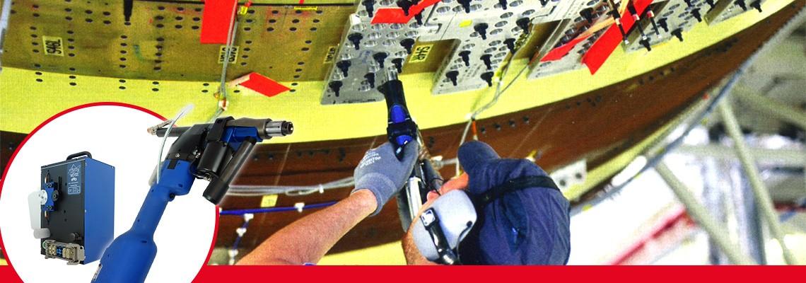 éVo, SETITEC Line tarafından elektrikli ileri havacılık montaj ekipmanlarına yönelik yarı otomatik delme işlemleri için tasarlanmıştır.